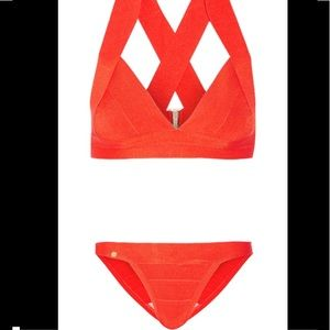 Herve leger bikini bandeau triangle new celebrity